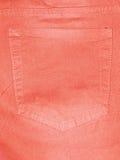 Bolsillos traseros de pantalones anaranjados Fotos de archivo libres de regalías