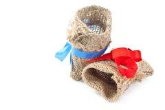 Bolsita de la materia textil Imagen de archivo libre de regalías