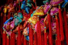 Bolsita de rogación china colorida Imágenes de archivo libres de regalías