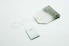 Bolsita de té con la etiqueta blanca Imagen de archivo