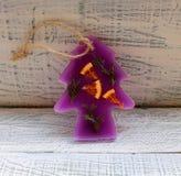 Bolsitas aromáticas del Año Nuevo hechas de la parafina Fotos de archivo