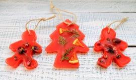 Bolsitas aromáticas del Año Nuevo hechas de la parafina Fotografía de archivo