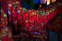 Bolsitas de la decoración del chino tradicional por Año Nuevo lunar Fotos de archivo libres de regalías
