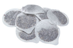 Bolsitas de té redondas Imagenes de archivo