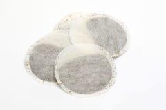 Bolsitas de té redondas fotografía de archivo libre de regalías
