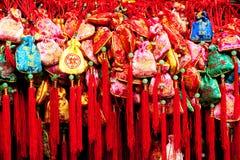 Bolsitas en Jinli, Chengdu, Sichuan, China foto de archivo
