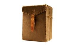 Bolso antiguo de la foto aislado en blanco Foto de archivo libre de regalías