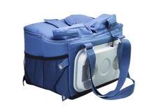 Bolso azul del refrigerador Foto de archivo libre de regalías