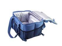 Bolso azul del refrigerador Imagen de archivo