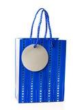 Bolso azul del regalo Imagenes de archivo