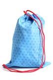 Bolso azul para el calzado Fotografía de archivo libre de regalías