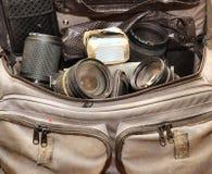 Bolso bien almacenado de la cámara Fotografía de archivo libre de regalías