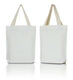 Bolso blanco de la tela Fotografía de archivo libre de regalías