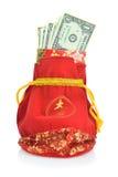 Bolso chino y decoración del regalo del Año Nuevo Imagenes de archivo