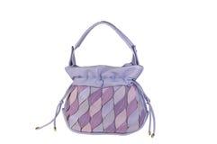 Bolso coloreado en colores pastel púrpura del ante Fotografía de archivo libre de regalías
