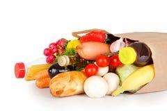 Bolso con el alimento Imagen de archivo libre de regalías