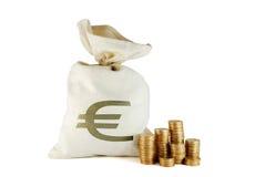 Bolso con el dinero Imagenes de archivo