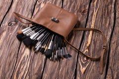 Bolso con los cepillos Imagen de archivo libre de regalías