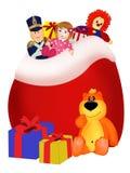 Bolso con los presentes Foto de archivo libre de regalías