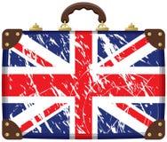 Bolso con un indicador británico Foto de archivo
