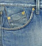 Bolso da calças de ganga foto de stock royalty free
