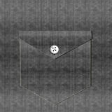 Bolso da camisa da sarja de Nimes - preto Imagens de Stock