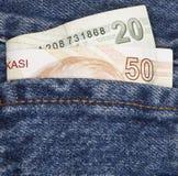 Bolso da lira turca Imagens de Stock