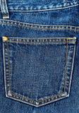 Bolso das calças de brim. Fotos de Stock Royalty Free