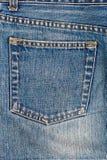 Bolso das calças de brim Fotos de Stock