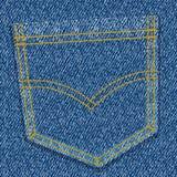 Bolso das calças de brim ilustração stock