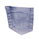Bolso das calças de brim Foto de Stock