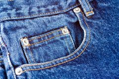 Bolso das calças de brim Foto de Stock Royalty Free
