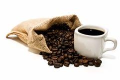 Bolso de café con la taza Imagen de archivo