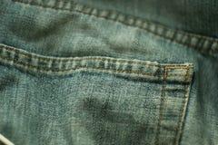 Bolso de calças de ganga Fotografia de Stock