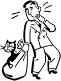 Bolso de Cat Is Out Of The ilustración del vector