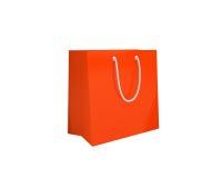 Bolso de compras anaranjado Imagen de archivo libre de regalías