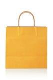 Bolso de compras anaranjado Fotos de archivo libres de regalías