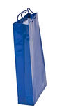 Bolso de compras azul Fotografía de archivo libre de regalías