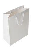 Bolso de compras blanco Fotografía de archivo