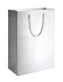 Bolso de compras blanco Foto de archivo libre de regalías