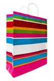 Bolso de compras coloreado Imagen de archivo
