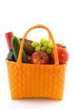 Bolso de compras con el alimento diario Foto de archivo