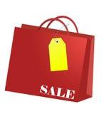 Bolso de compras con la etiqueta para cada estación de las compras Fotografía de archivo libre de regalías