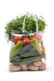 Bolso de compras con las verduras Imagen de archivo