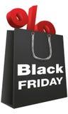 Bolso de compras de Black Friday Fotos de archivo