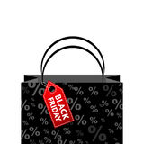 Bolso de compras de Black Friday Imágenes de archivo libres de regalías