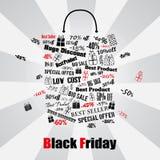 Bolso de compras de Black Friday Fotografía de archivo libre de regalías
