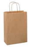 Bolso de compras de Brown. Imágenes de archivo libres de regalías