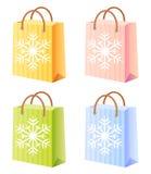 Bolso de compras de la Navidad Fotos de archivo