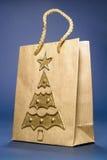 Bolso de compras de la Navidad fotos de archivo libres de regalías